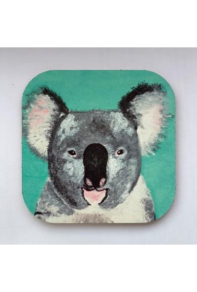 Artmuguet Cool Koala Metal Yüzeyli Bardak Altlığı
