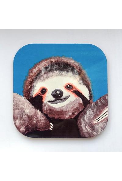 Artmuguet Hugger Sloth Metal Yüzeyli Bardak Altlığı