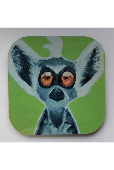 Artmuguet Lemur Or Dobby? Metal Yüzeyli Bardak Altlığı