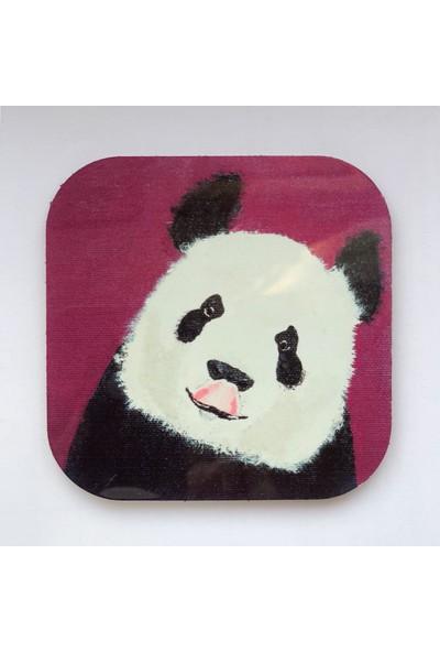 Artmuguet Playful Panda Metal Yüzeyli Bardak Altlığı
