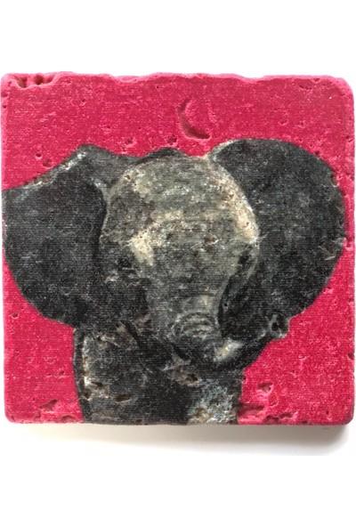 Artmuguet Baby Elephant Taş Bardak Altlığı
