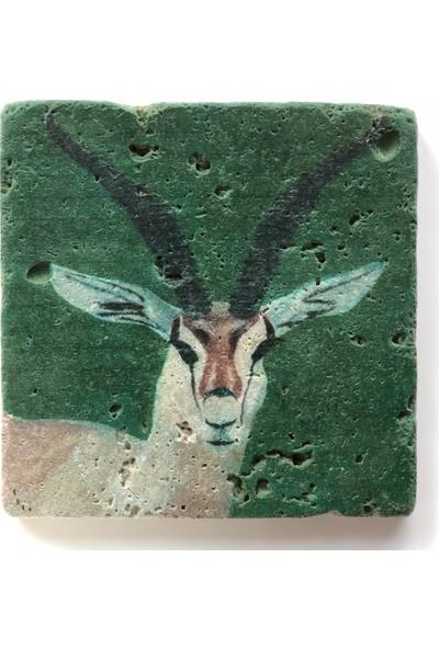 Artmuguet Elegant Antelope Taş Bardak Altlığı