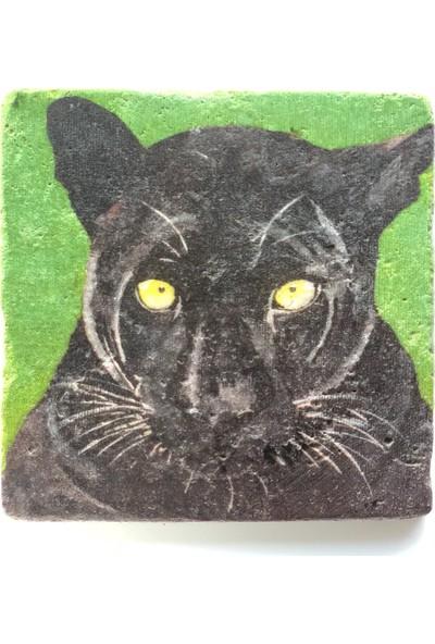 Artmuguet Fierce Panther Taş Bardak Altlığı
