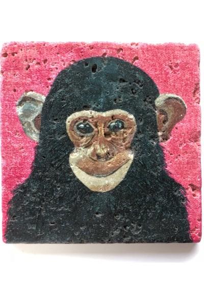 Artmuguet Happy Chimpanzee Taş Bardak Altlığı