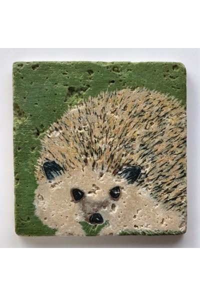 Artmuguet Spiky Porcupine Taş Bardak Altlığı