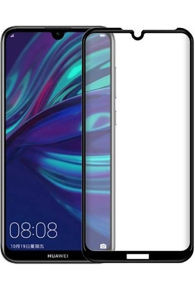 Case Street Huawei Honor 8A Full Kapatan Renkli Cam Tam Koruma Siyah
