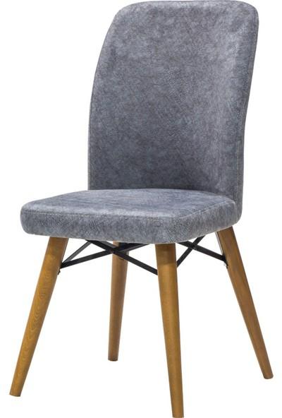 Enzi̇ EN648 Antrasi̇t Ahşap Ayakli Kumaş Sandalye