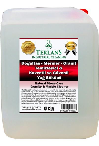 Terlans Doğaltaş Mermer Granit Linolyum Yüzey Temizleyici-Ağır Kir Yağ Sökücü-Zengin Parlaklık 5 kg