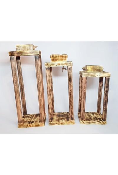 Bade Tasarım Atölyesi Gemici Feneri Mumluk Yakma 3lü Set