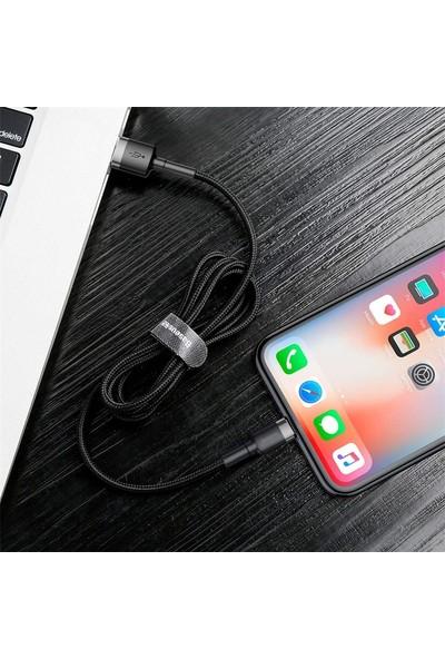 Baseus Lightning USB Kablo Gri-Siyah 2 mt