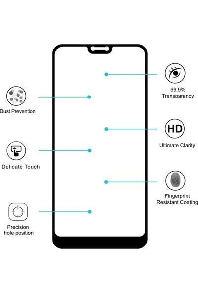Ally Nokia 7.1 3D Full Kaplama Cam Ekran Koruyucu