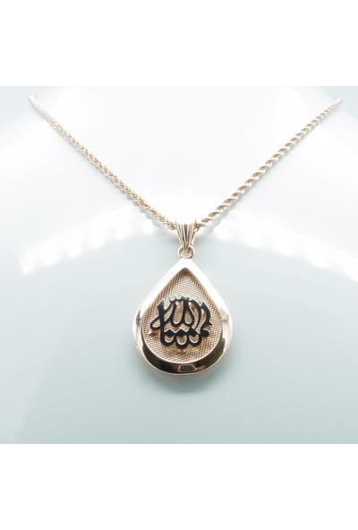 Amelya Gold Blnpwx36 Roze Gümüş Maşallah Kolye