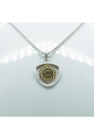 Amelya Gold Beyaz Gümüş Çiçek Kolye