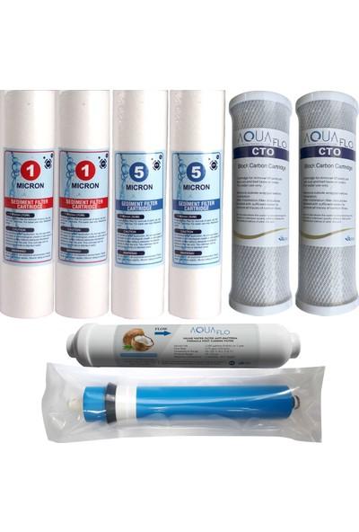 Aquaflo Su Arıtma Cihazları Filtresi 8'li Set Nsf Onaylı