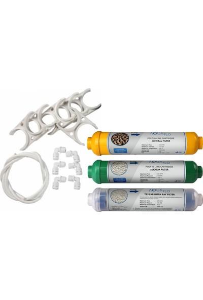 Aquaflo Su Arıtma Filtresi Mineral Alkalin Detoks Filtre Seti