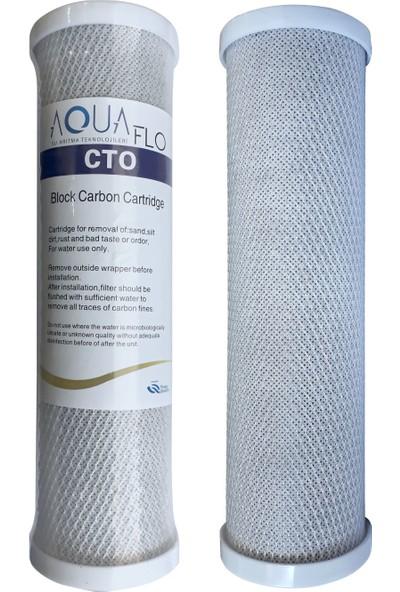 Aquaflo Açık Kasa Su Arıtma Cihazları İçin 25'li Blok Karbon Cto Filtre