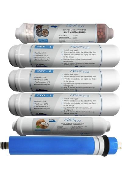 Aquaflo Su Arıtma Filtresi 12 Inch Inline 9 Aşama Kapalı Kasa Model Filtresi