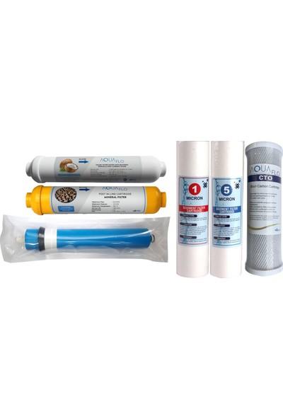Aquaflo Su Arıtma Filtresi 6'lı Komple Su Arıtma Cihazları İçin Filtre Seti