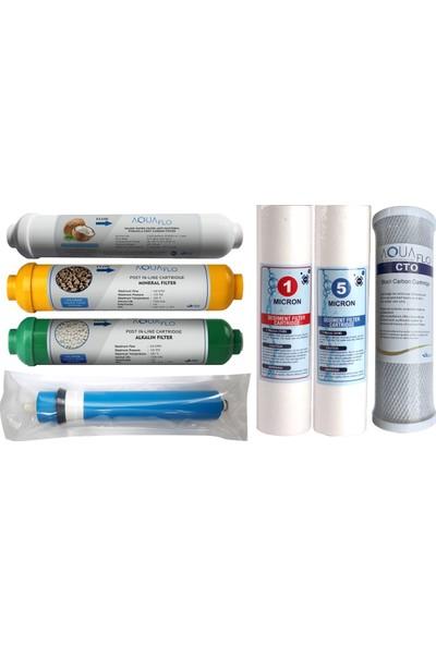 Aqualife Su Arıtma Filtresi 7'li Komple Su Arıtma Cihazları İçin Filtre Seti