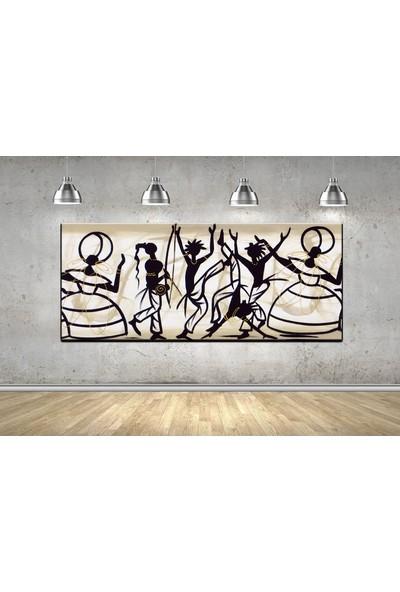 Dekomuz Dansçi Kadinlar Kanvas Tablo 120 x 40