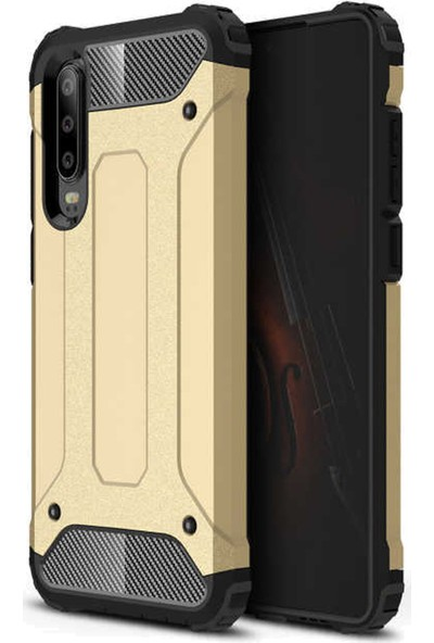 CoverZone Xiaomi Mi 9 Shockproof Zırh Koruma Kılıf Altın - CRS100