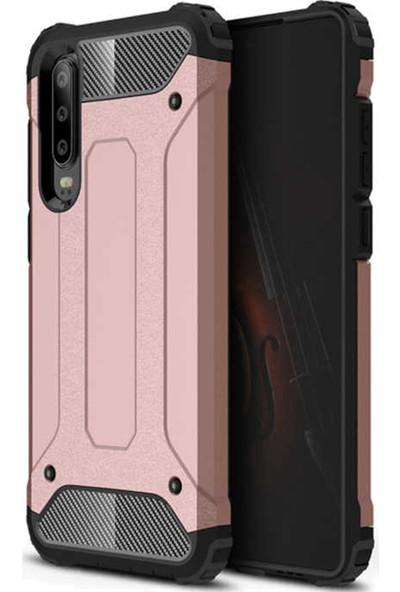 CoverZone Huawei P30 Shockproof Zırh Koruma Kılıf Rose Gold - CRS124