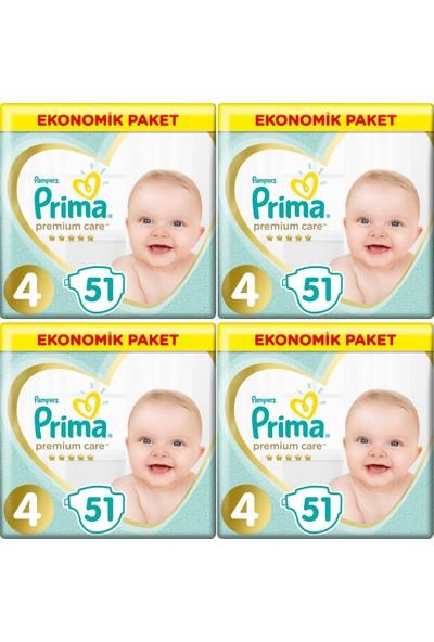 Prima Premium Care 4 Numara 51 x4=204 Adet Bebek Bezi