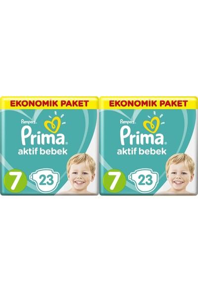 Prima Aktif Bebek Ekonomik Paket 7 Numara 23 x 2=46 Adet Bez
