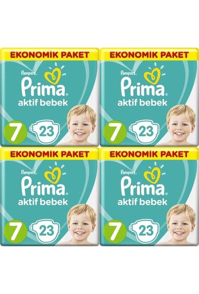 Prima Aktif Bebek Ekonomik Paket 7 Numara 23 x 4=92 Adet Bez