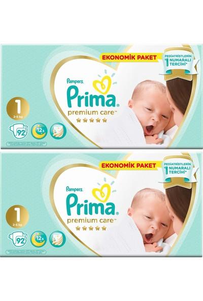 Prima Premium Care 1 Numara 92 x 2=184 Adet Bebek Bezi