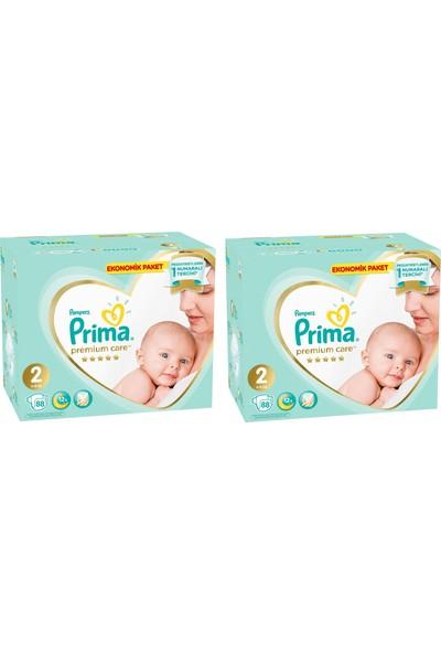 Prima Premium Care 2 Numara 88 x 2=176 Adet Bebek Bezi