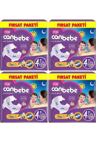 Canbebe Bebek Bezi No:4+ Maxıplus 9-16 kg Aylık Paket 200 Adt Bez