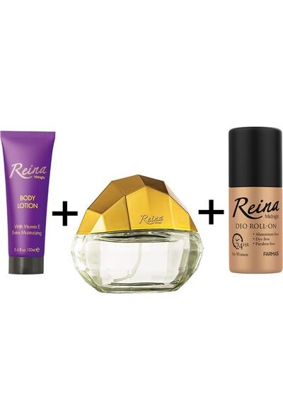 Farmasi Reina Parfüm Edp 65 Ml-Vücut Losyonu 100 Ml-Roll-On 50 ml
