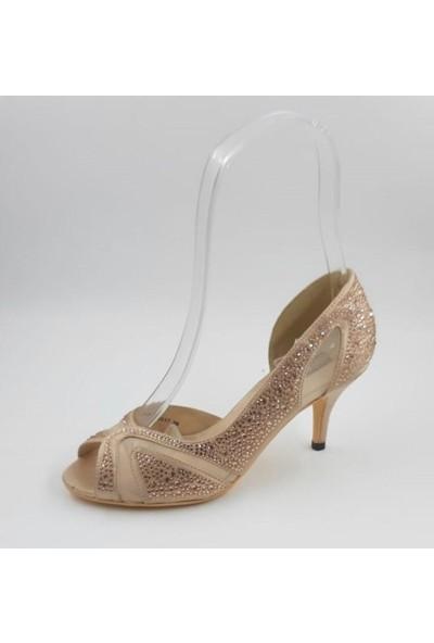Kriste Bell Kısa Topuk Abiye Ayakkabı