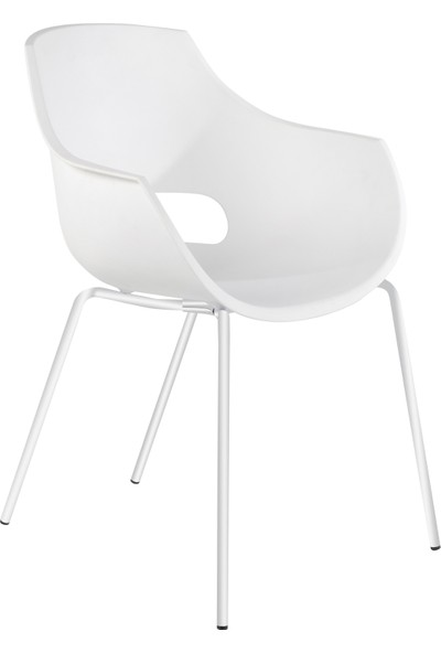 Papatya Opal Pro Sandalye Beyaz-Beyaz