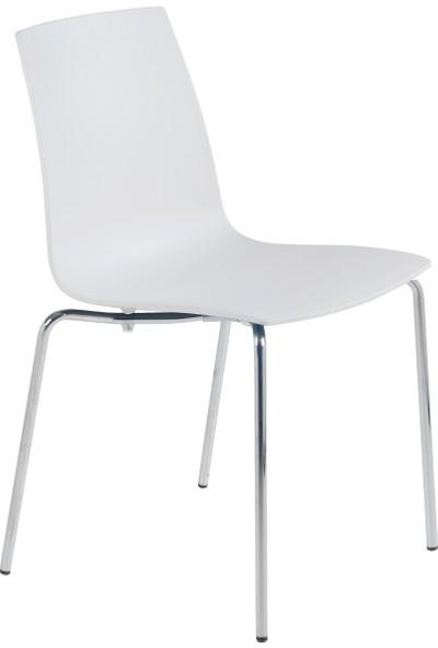 Papatya X-Treme Pro Sandalye Beyaz-Krom