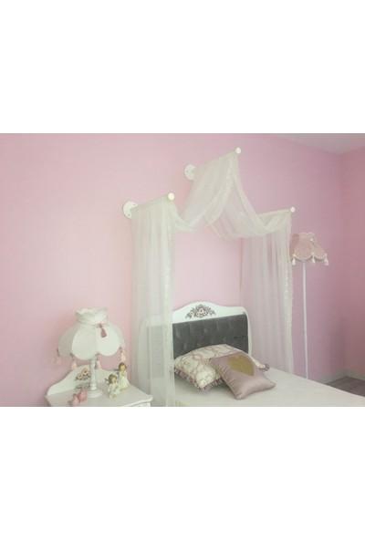 Homeart Genç Odası Butik Cibinlik Jasmine - 3 Çubuklu Set