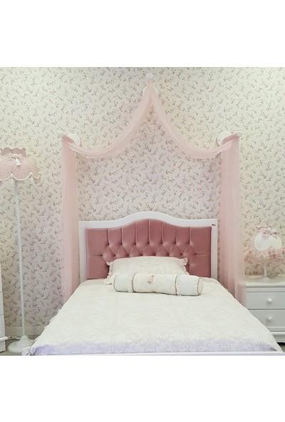 Homeart Genç Odası Butik Cibinlik Romantik - 3 Çubuklu Set Pudra