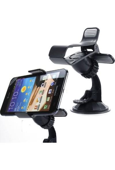 AutoCsi 360° Dönebilen Kıskaçlı Smartphone Telefon Tutucu -Siyah- 20232