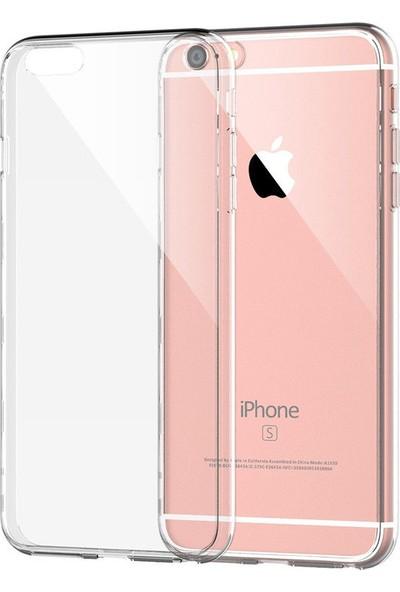 Engo Apple iPhone 6 Plus Kılıf Şeffaf Silikon Slim Fit Arka Kapak Koruyucu Kılıf