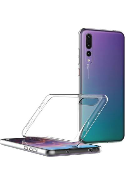 Engo Huawei P20 Pro Kılıf Şeffaf Silikon Slim Fit Arka Kapak Koruyucu Silikon Kılıf
