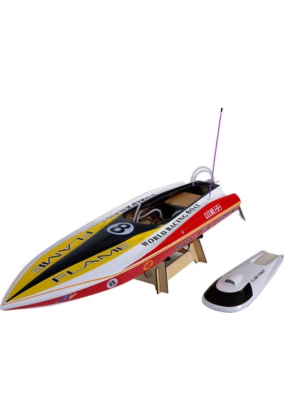 Vantex Flame Racing 600BP (White,yellow) 60CM Brushless Tekne