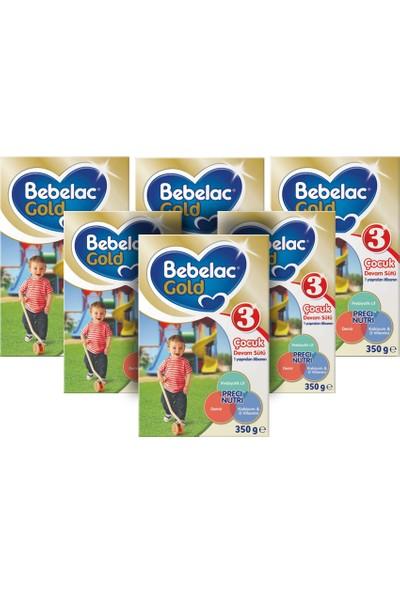 Bebelac Gold 3 Çocuk Devam Sütü 350 gr 6'lı Paket ( 2100 gr )