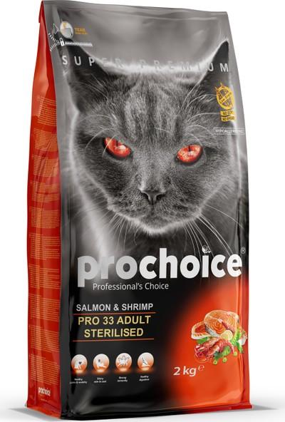 Prochoice Somon&Karides Pro 33 Yetişkin Kısırlaştırılmış Kedi Maması