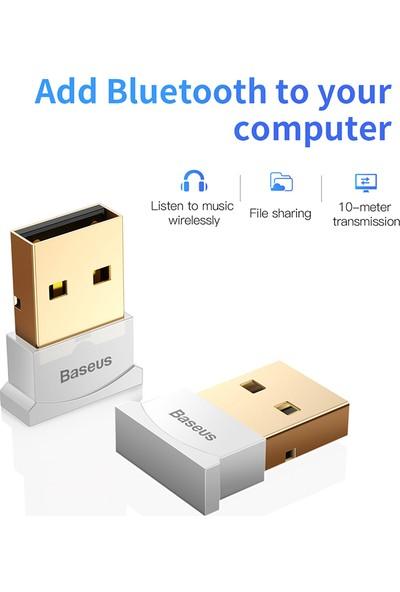 Baseus USB Bluetooth Adaptör Bilgisayar Beyaz
