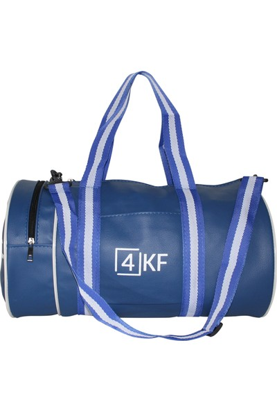 4KF Silindir Spor Çantası Mavi