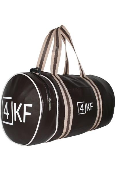 4KF Silindir Spor Çantası Kahverengi