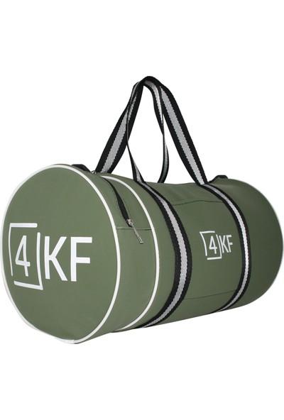 4KF Silindir Spor Çantası Yeşil