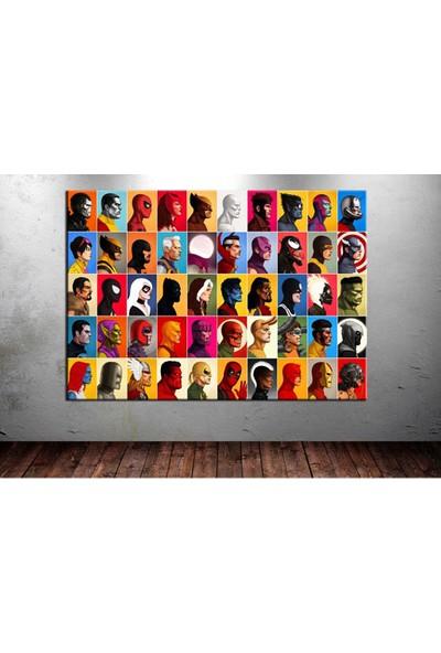 Sibiro Marvel Karakterleri OZL32 Kanvas Tablo 35 x 50 cm