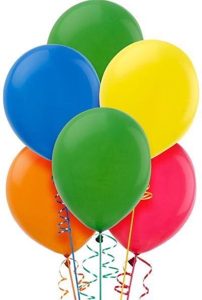 Atom Balon Karışık Renkli 12 İnch Can Arabalar Baskılı 100'LÜ Paket Balon
